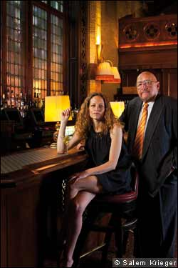 Jerry Della Femina and Katie Roiphe at The Campbell Apartment, New York