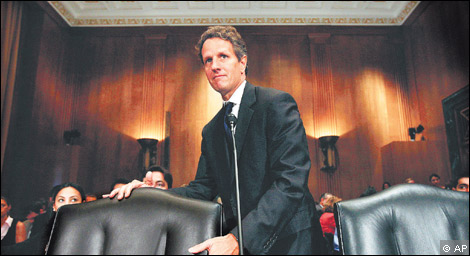 Tim Geithner, US Treasury secretary,
