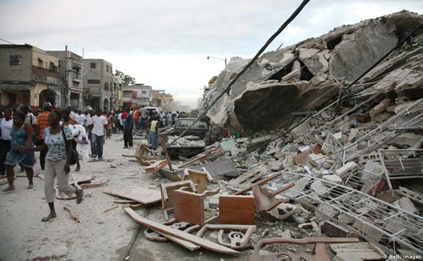 Haiti big earthquake 50,000 dead